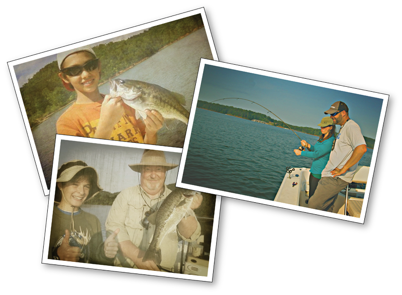 fishing pictures collage